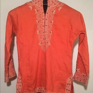J.Crew Bedazzled Tunic Top Size Small
